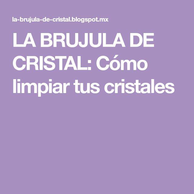 Como Limpiar Bien Los Cristales. Top Cristales With Como Limpiar ...