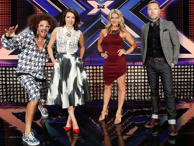 Xfactor Australia judges- Redfoo, Dannii Minogue, Natalie Bassingthwaighte, Ronan Keating