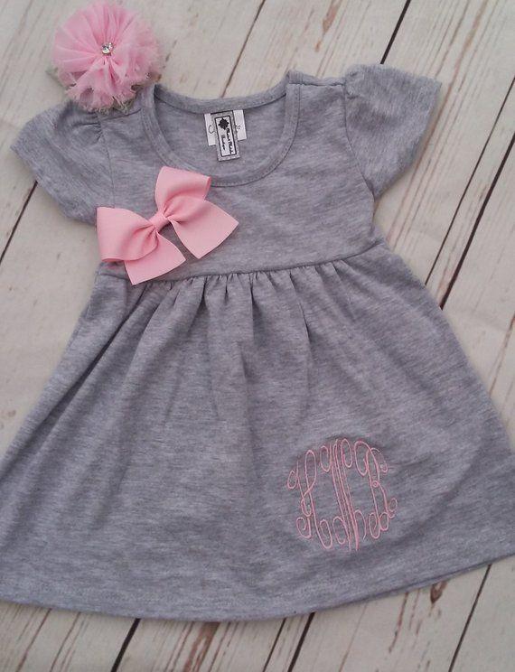 2637febe1 Personalized Baby Girl Dress Newborn Coming Home Outfit Baby Girl Dress  Newborn Headband Take Home Outfit Personalized Baby Girl Gift Set