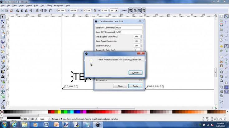 Inkscape Laser PlugIn J Tech Photonics, Inc. in 2020