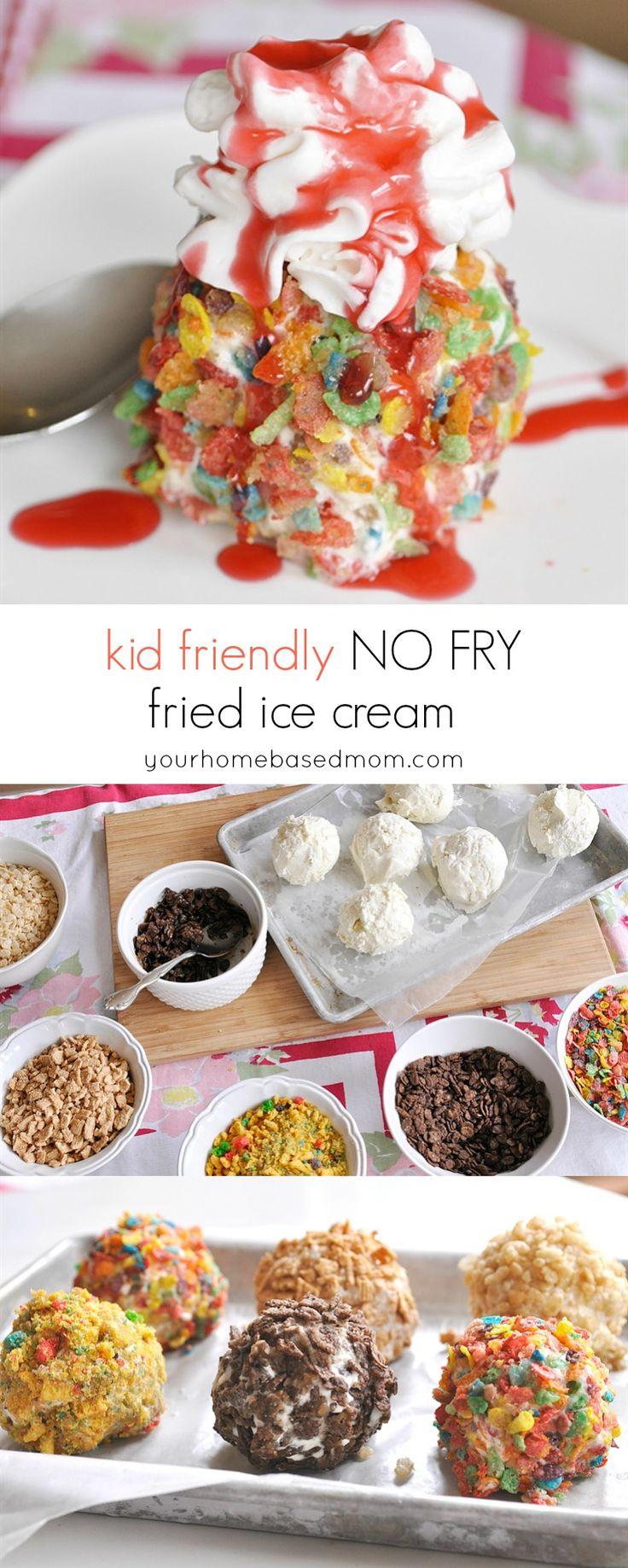 Kid Friendly No Fry Fried Ice Cream