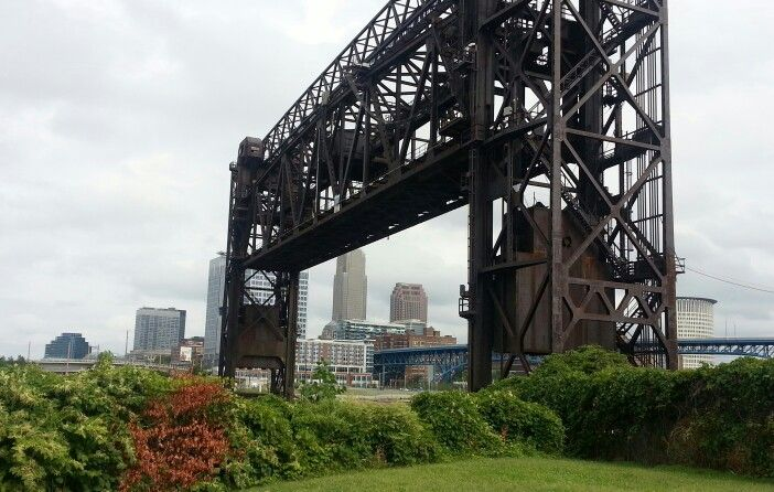 Downtown Cleveland from Wendy park   Drawbridge over the Cuyahoga   Cleveland, Ohio   Pinterest   Downtown cleveland, Ohio and Park