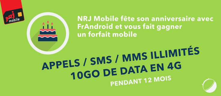 Concours : NRJ Mobile fête ses 10 ans et vous offre 1 an de forfait - http://www.frandroid.com/humanoid/concours/316931_nrj-mobile-fete-10-ans-offre-possibilite-de-gagner-1-an-de-forfait  #Concours, #Humanoid