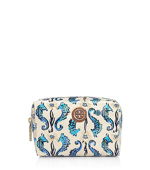 Tory Burch - Brigitte Cosmetic Case. Loving those sea horses!