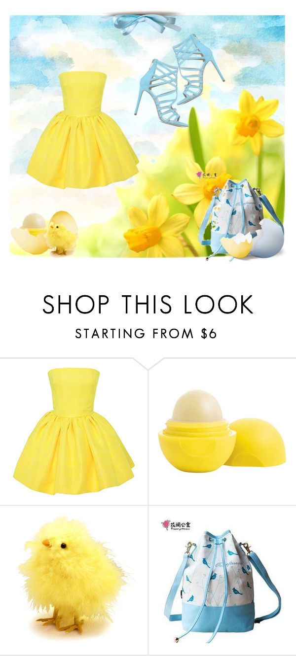 Yellow daffodils by vampire-kate on Polyvore featuring Martin Grant, Tamara Mellon, Flower Princess, Eos and Boston International