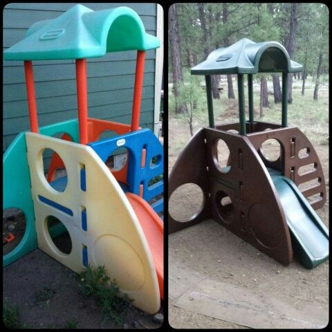 Little Tykes Climber/Slide makeover using Krylon Fusion spray paint
