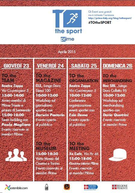 TOtheSPORT locandina #sport #eventi #comunicazione #PRime http://prime-italy.org/blog/tothesport/
