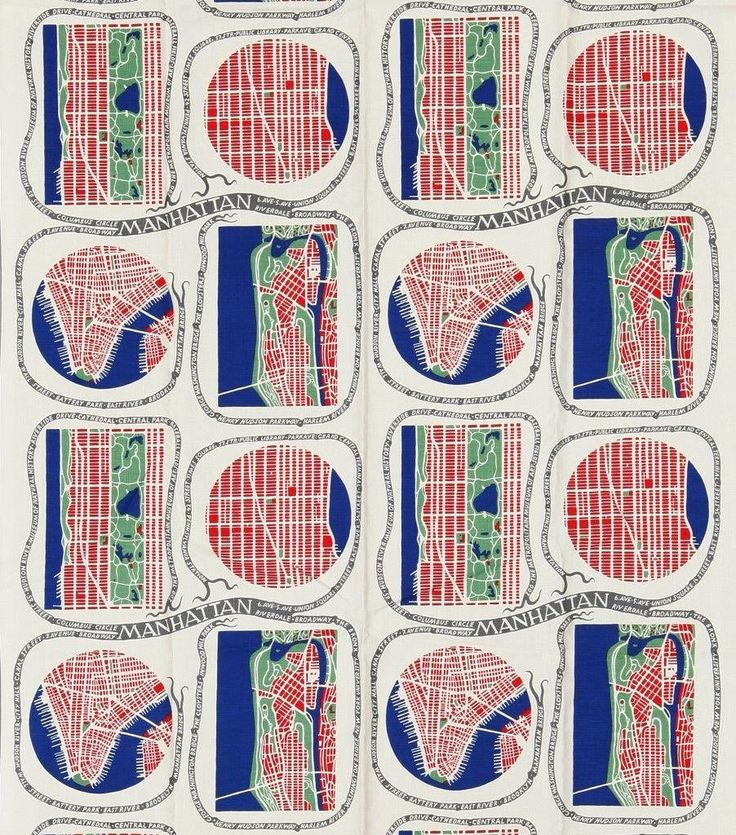 Josef Frank, Manhattan, 1943-45Most of Josef Frank's patterns are inspired by nature, but this lyrical take on Manhattan's grid is one of the exceptions