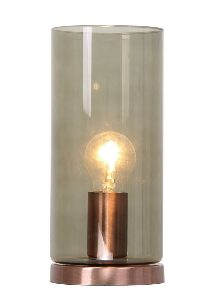 Griffin copper table lamp h27cm