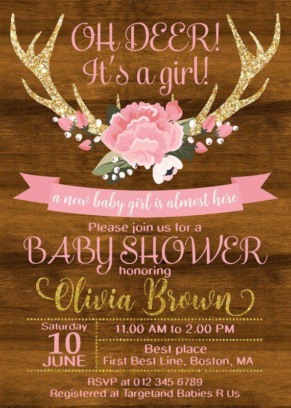 Oh Deer Baby Shower Invitations Little Deer Baby Sprinke Invitation