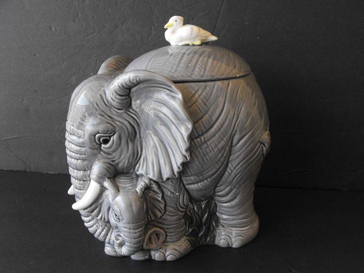 Elephant Cookie Jar made in Japan by Omnibus by Fitz & Floyd