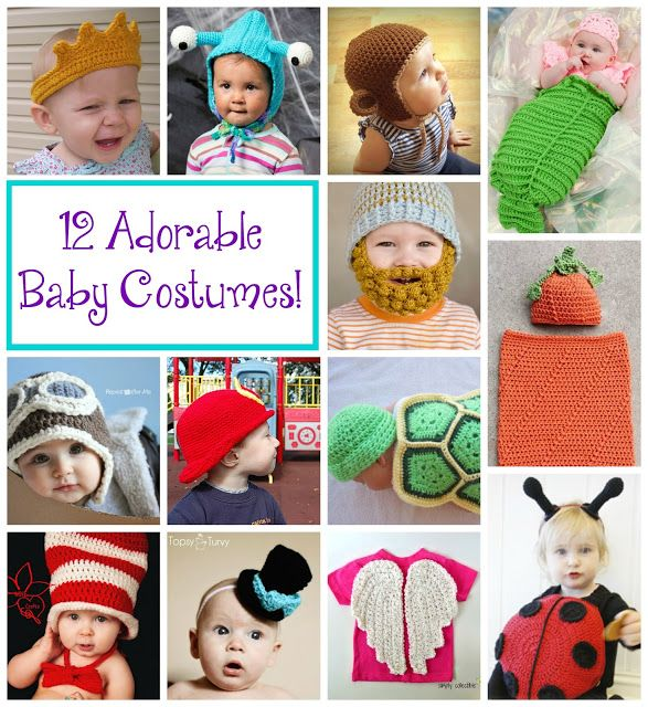 12 Adorable Crochet Baby Costumes!  Roundup on Fiber Flux