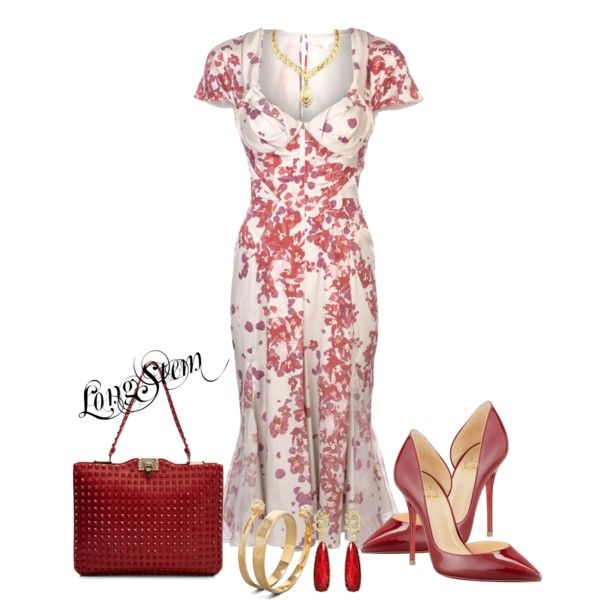 """Red Print"" by longstem on Polyvore"