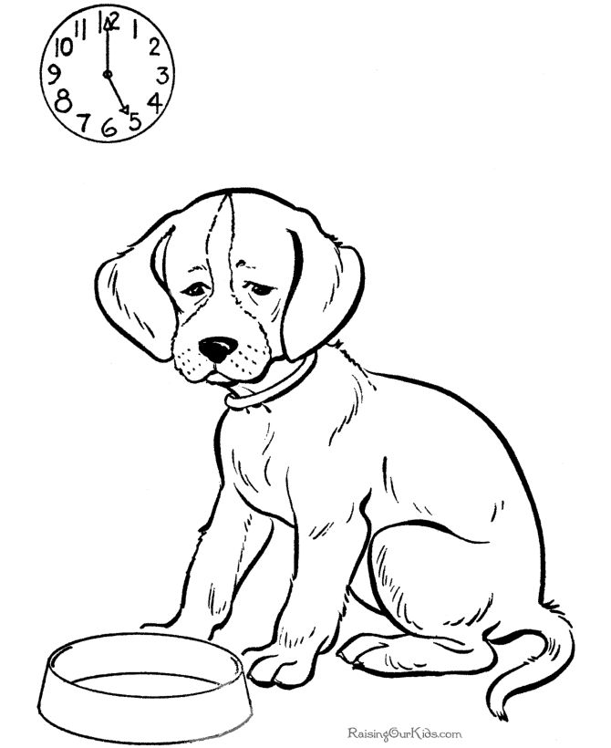 Printable Dog Coloring Book Pages
