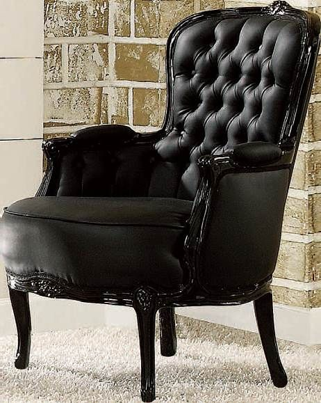 Beautiful Black Accent Chair Model