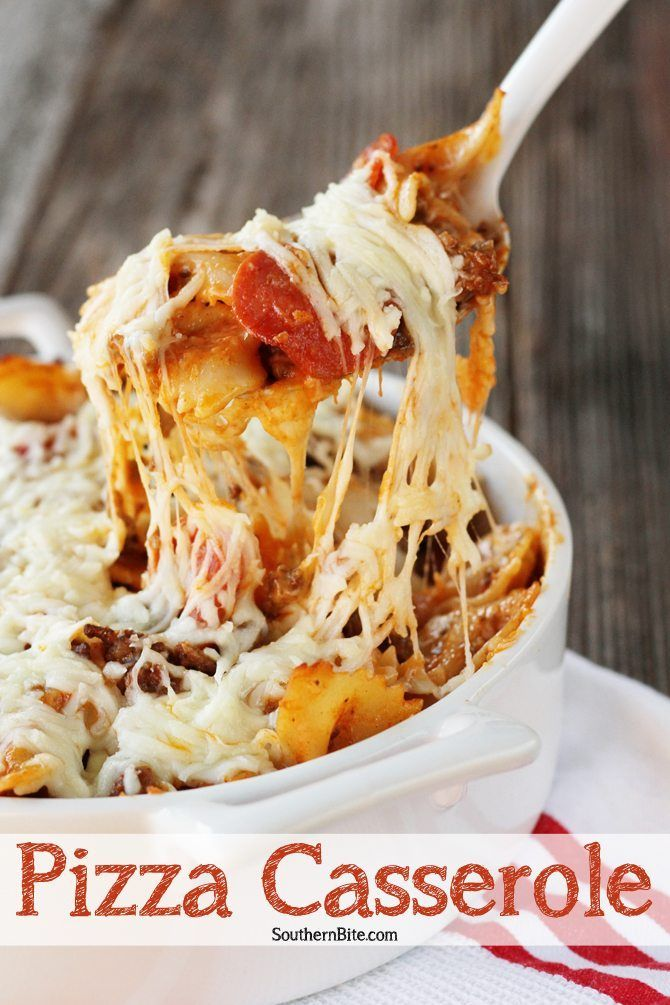 Pizza Casserole - a cheesy, delicious and easy weeknight family meal.
