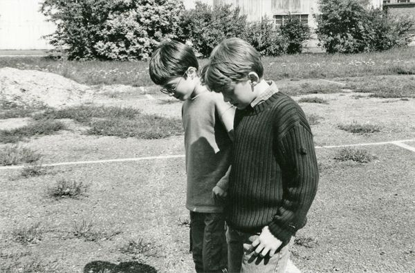 daniel radcliffe and rupert grint the first day they met. cuuuute