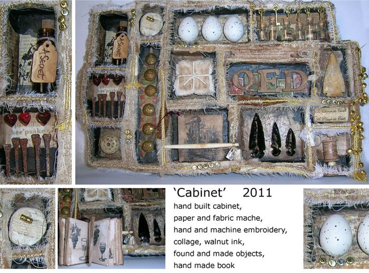 "Kate Crossley Gallery - A small cabinets of curiosities called ""QED"""