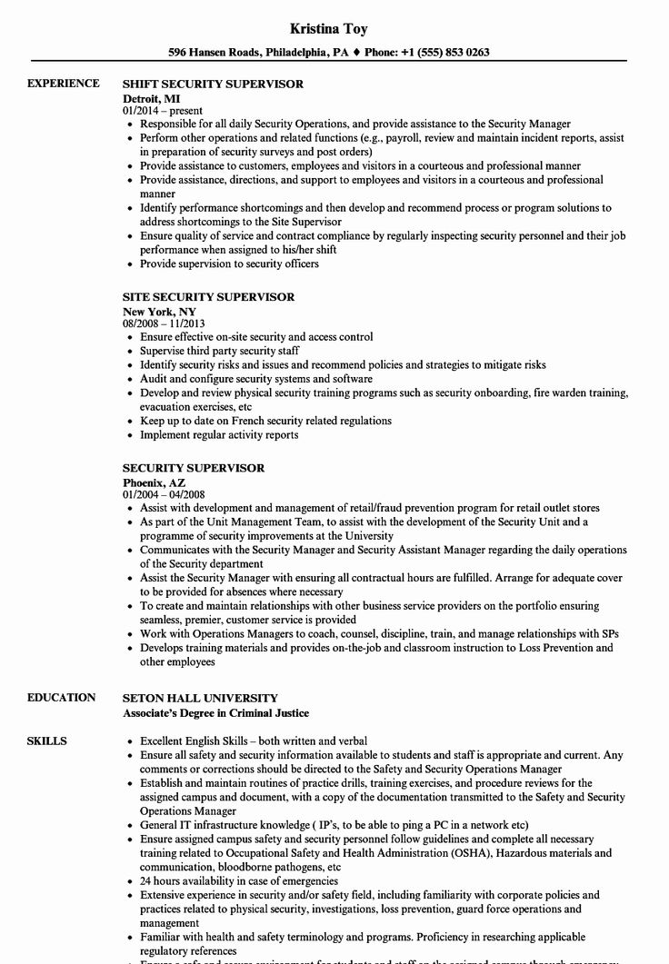 Military Police Job Description Resume Inspirational 10
