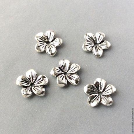 Купить _Бусины 13 мм подвеска цвет серебро античное для украшений - латунь фурнитура бусины