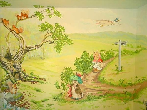 Good Via Www.childrensclassics.com.au Mural Of Beatrix Potteru0027s Tales.