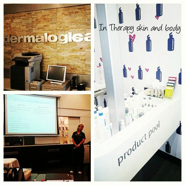 At Dermalogica training in Brisbane.