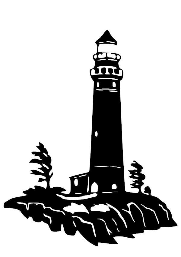craggy lighthouse vinyl decal