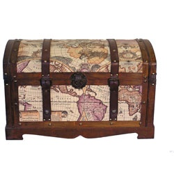 @Overstock - This beautiful wood trunk features old fashioned hardware for an antique look. The decorative treasure chest features an old world map and is great for storage and decoration. http://www.overstock.com/Home-Garden/Old-World-Victorian-Treasure-Chest-Styled-Wood-Trunk/5306948/product.html?CID=214117 $115.71