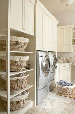 Country Laundry Room with Lg - steamdryer 7.3 cu. ft. 9-cycle ultralarge capacity steam electric dryer - graphite steel