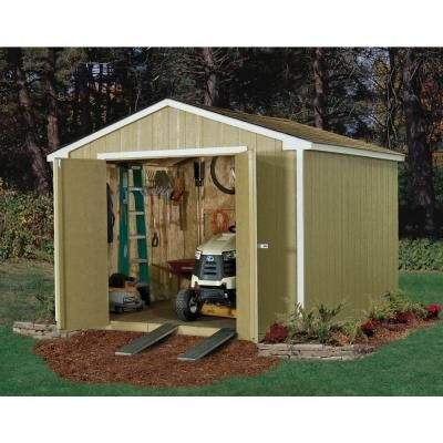Handy Home Products Princeton 10 ft. x 10 ft. Wood Storage Shed-18250-1 - The Home Depot