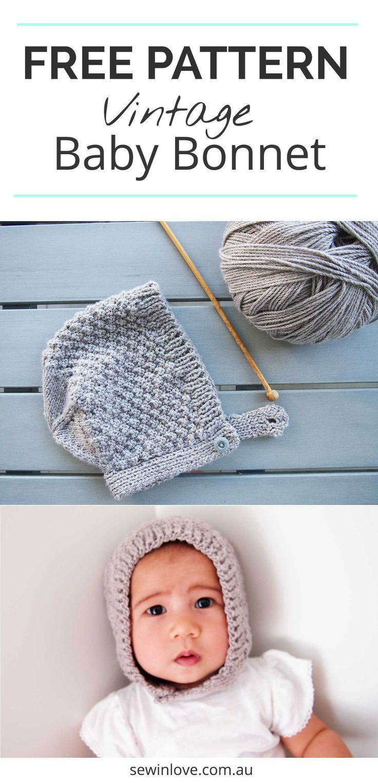 Free Baby Bonnet Hat Pattern Easy Knitting For Beginners
