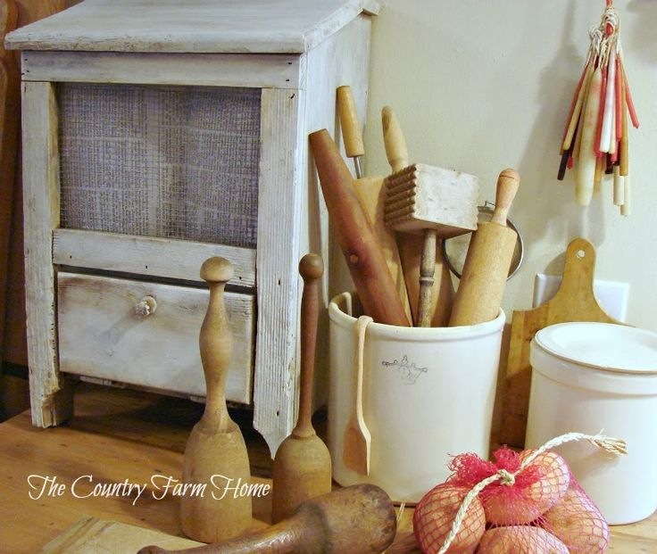 old wooden potato mashers and rolling pins