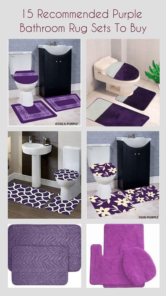 15 Empfohlene Lila Badezimmer Teppich Sets Zu Kaufen