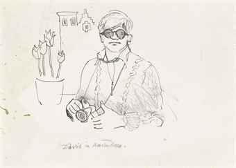 David Hockney pencil drawings - Google Search