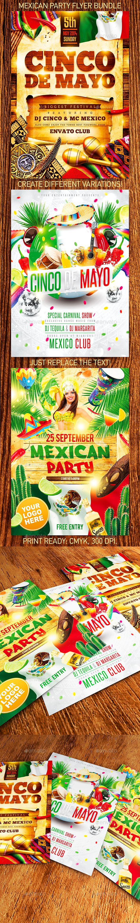 Download Free Graphicriver              Mexican Party Flyer Bundle            #               4ustudio #5 de mayo #cactus #carnival #celebrate #celebration #chili #Cinco de Mayo #colorful costumes #dance #drum #ethnic #festival #fiesta #guitar #hat #holiday #independence day #latin flyer #latin party #latino #May 5th #mayan #mexican flyer #mexican party #mexico #palm #sombrero #taco #tequila