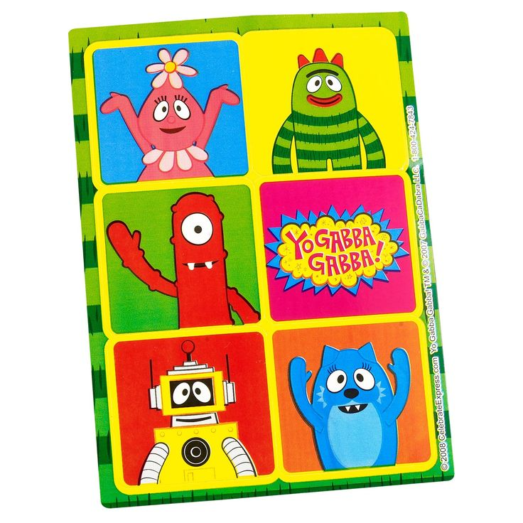 318 best yo gabba gabba images on pinterest yo gabba gabba 2nd kids absolutely love yo gabba gabba stickers especially when they coordinate with your childs party theme these fabulous sticker sheets make terrific thecheapjerseys Image collections