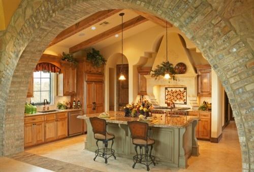 mediterranean style kitchen... NICE!