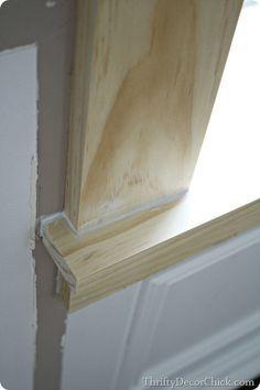 craftsman window trim how to