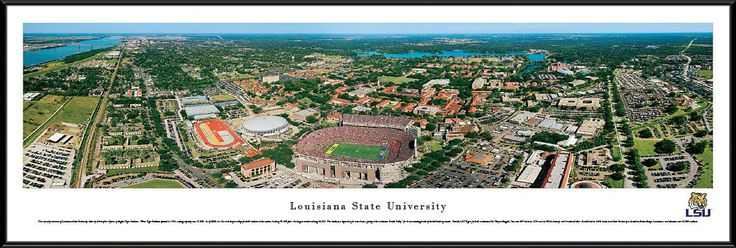 Louisiana State University Tigers Panoramic - LSU Tiger Stadium Picture