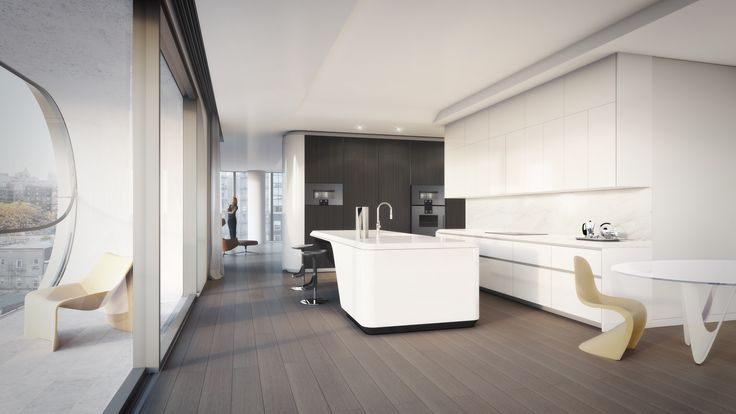 Tour NYC's First Zaha Hadid–Designed Apartments Photos   Architectural Digest