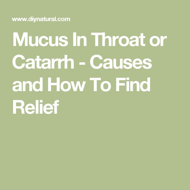 how to clear mucus from throat naturally