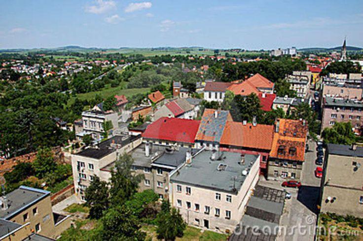 silesia landscape | General landscape of Zabkowice Slaskie (previous name Frankenstein) in ...