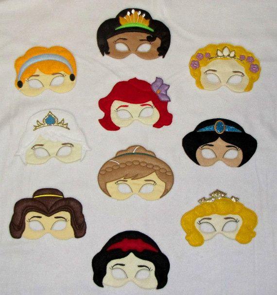 Princess inspired Dress Up Mask Pretend Masks by OhanaApplique