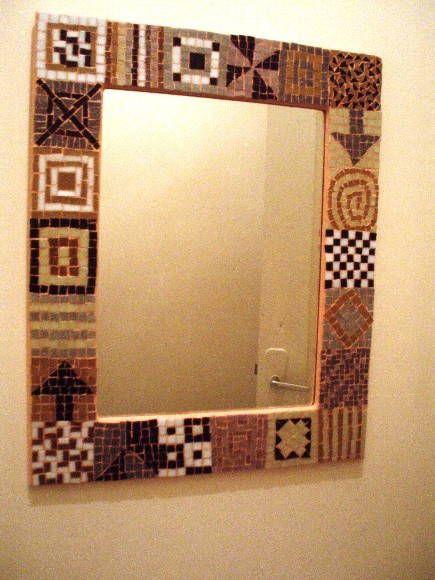 Moldura para Espelho em Mosaico | Bel Oliveira Mosaicos  | 4F451 - Elo7