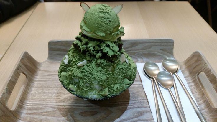 [I ate] Green Tea Patbingsu (Korean Shaved Ice Dessert)