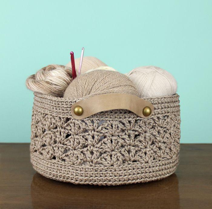 New Crochet Pattern: Beachcomber Basket | Gleeful Things