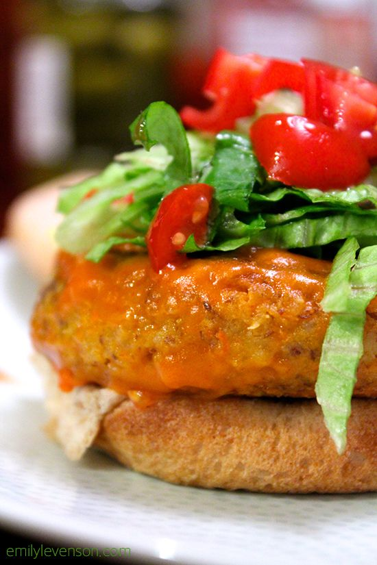 Amazing Buffalo Chickpea Burgers | Corn Free, Dairy Free, Egg Free, Gluten Free, Soy Free, Vegan, Vegetarian, Wheat Free