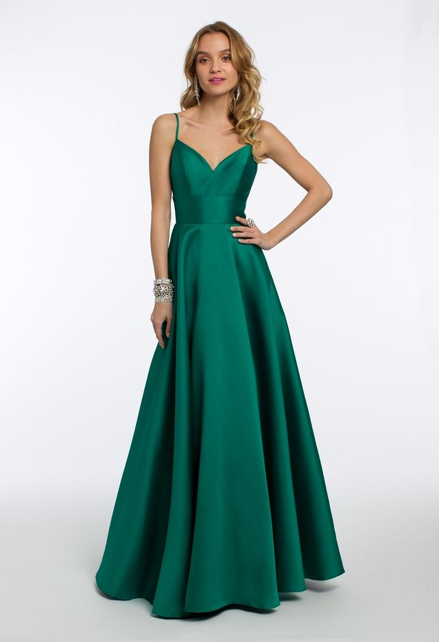 28c7565d853b Set the tone in jewel tones at your next weekend extravaganza: this  gorgeous emerald evening gown features an open back, sweetheart neckline  and fitted ...