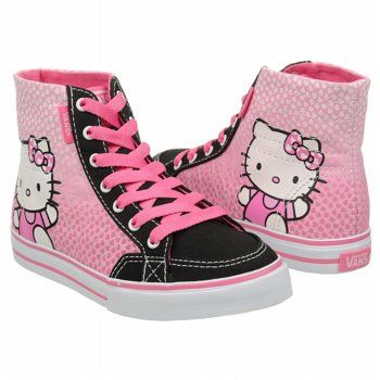 Athletics Vans Kids' Hello Kitty Corrie Hi Pink/Black FamousFootwear.com