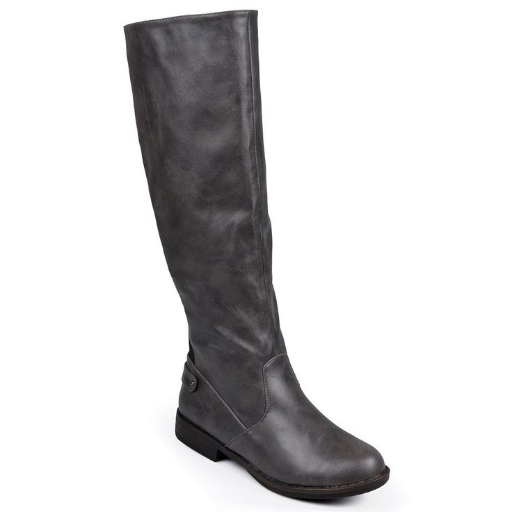 Journee Collection Lynn Women's Tall Riding Boots, Size: 9.5 Wc, Grey